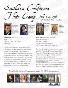 So Cal Flute Camp 2016